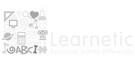 Learnetic Gray Shades Logo